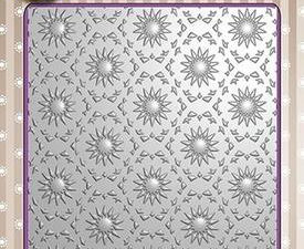 EF3D001 Nellie Snellen 3D Embossing Folders Background Flowers 1-0