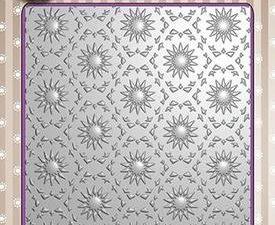 EF3D001 Nellie Snellen 3D Embossing Folders Background Flowers 1-0