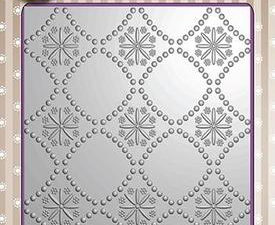 EF3D002 Nellie Snellen 3D Embossing Folders Background Flowers 2-0