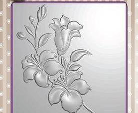 EF3D005 Nellie Snellen 3D Embossing Folders Branch with flowers-0
