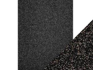 9943E Tonic Studios Craft perfect Glitter Card A4 Black Sapphire-0