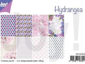 6011/0619 JOY Papirsblok A4 Hydrangea-0