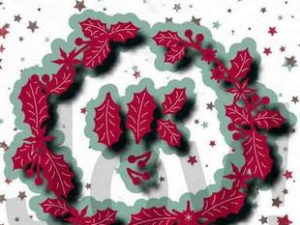 6002/1231 JOY Die Cut Jingle Bells, Guirlande-0