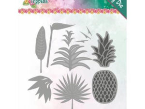 YCD10173 Yvonne Design Die Happy Tropics, Lush Leaves-0