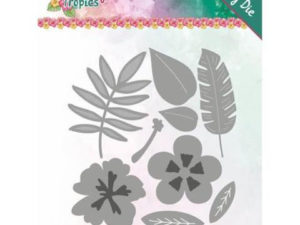 YCD10174 Yvonne Design Die Happy Tropics, Tropical Blooms-0