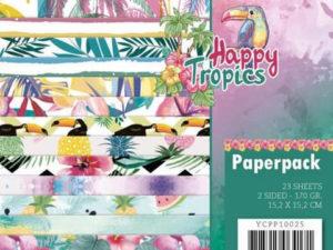 YCPP10025 Yvonne Design Papirblok Happy Tropics-0