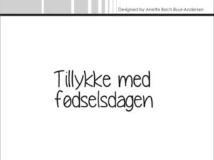 "SBC019 Simple and Basic Stempel ""Tillykke med fødselsdagen""-0"