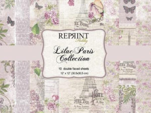 CRP004 Reprint Papir 30x30, Lilac Paris Collection-0