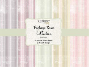 CRP007 Reprint Papir 30x30, Vintage Basic - Stripes-0