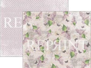 RP0269 Reprint Designpaper 30x30, Lilac Paris Collection, Lilac -0