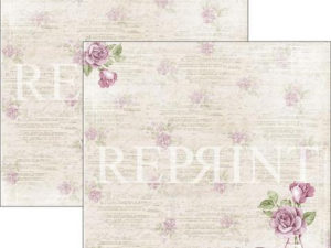 RP0271 Reprint Designpaper 30x30, Lilac Paris Collection, Rose-0