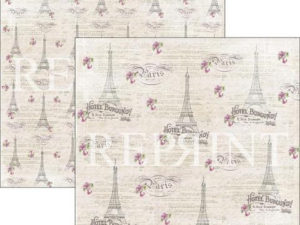 RP0272 Reprint Designpaper 30x30, Lilac Paris Collection, Paris-0