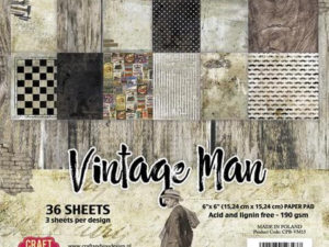 CPB-VM15 Craft & You 15x15 Papirblok Vintage Man-0