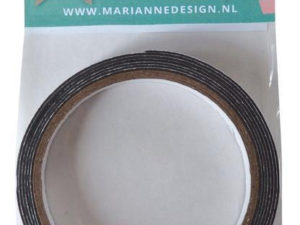 LR0026 Marianne Design Black Foam Tape 1x12mm-0