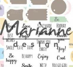 CS1029 Marianne Design Die & Stempel Mini Labels-0