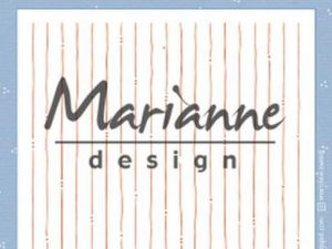 DF3450 Marianne Design, Emb.folder, Marjoleine's Stripes-0