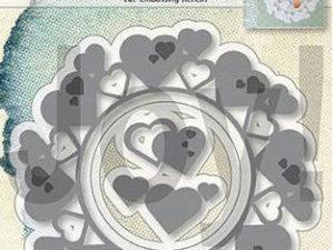 6002/1313 JOY Die Cut/emb Billie's Circle Hearts-0