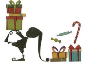 664192 Sizzix Die Tim Holtz Thinlits, Santa's Helper-0