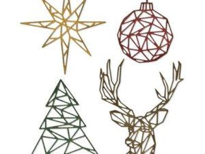 664202 Sizzix Die Tim Holtz Thinlits, Geo Christmas-0