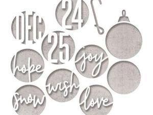 664205 Sizzix Die Tim Holtz Thinlits, Circle Words, Christmas-0