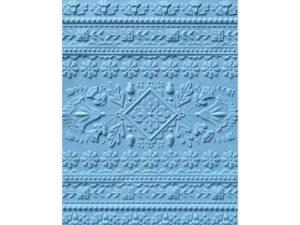 663613 Sizzix Tim Holtz Embossingfolder A6 3D Folk Art Pattern-0