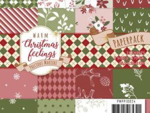 PMPP10024 Precious Marieke Papirsblok Warm Christmas Feelings-0