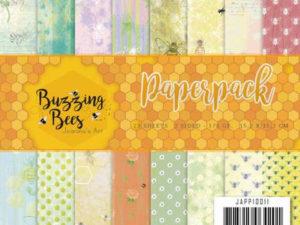 JAPP10011 Jeanine`s Art Papirsblok Bussing Bees-0