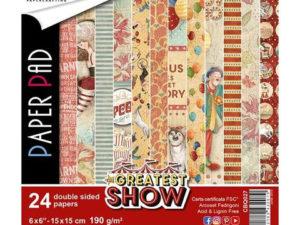 CBQ027 Ciao Bella Paper Pad 15 X 15 cm, The Greatest Show-0