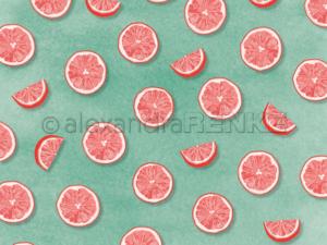 10.1367 Alexandra Renke Designpaper 30x30, 'PopSommer Grapefruit'-0