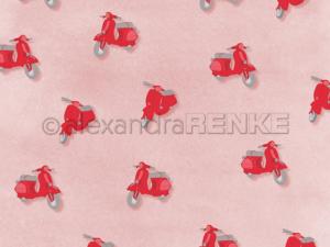 10.1370 Alexandra Renke Designpaper 30x30, 'PopSommer Vespa'-0