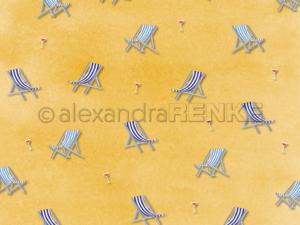 10.1373 Alexandra Renke Designpaper 30x30, 'PopSommer deck chair'-0