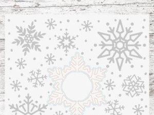 EMBSA02 StudioLight Embossingfolder & Die, Snowy Afternoon, Snefnug-0