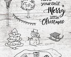 Stampsa399 StudioLight Clearstamp, Snowy Afternoon, Have Yourself a Merry...-0