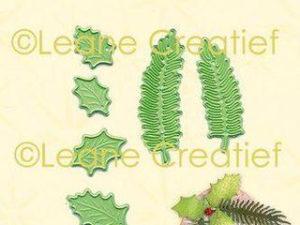 45.6159 Leane Creatief Die Cut/emb Holly & Pine Branches-0