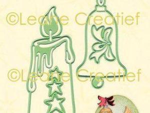45.6166 Leane Creatief Die Cut/emb Candle & Christmas Bell-0