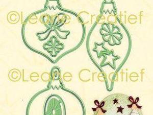 45.6173 Leane Creatief Die Cut/emb Christmas Ornaments-0