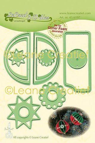 45.6197 Leane Creatief Die Cut/emb Christmas Ornament (Ball) Smooth-0