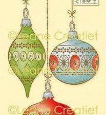 55.6067 Leane Creatief stempel/clearstamp Christmas Ornaments-0