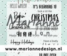 CS1037 Marianne Design Stempel Hello Winter-0