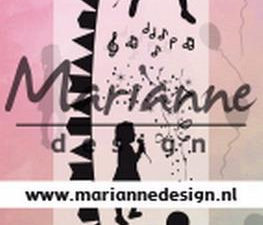 CS1038 Marianne Design Stempel Silhouette Party-0
