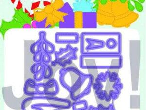 "6002/1330 JOY Die Cut/EMB ""Jingle Ornaments""-0"