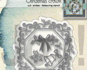 """6002/1340 JOY Die Cut/EMB """"Christmas Crown"""" -0"""