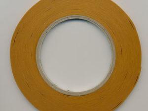 63067 DAN Dobbeltklæbende tape 6 mm x 50 m, Brun-0