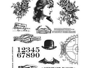 CMS268 Stampers Anonymous Tim Holtz Ladies & Gentlemen-0