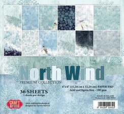 CPB-NW15 Craft & You 15x15 Papirblok North Wind-0