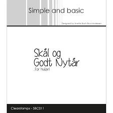 """SBC011 Simple and Basic Stempel """"Skål og godt nytår""""-0"""