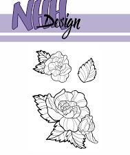 NHHC026 NHH Design Stempel, Flower-4-0