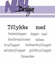 """NHHC030 NHH Design Stempel, """"Tillykke med""""-0"""