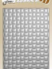 BLE1009 By Lene Embossingfolder 3D, Woven-0