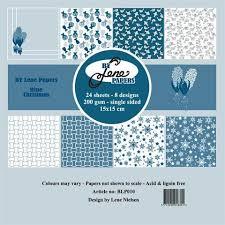 BLP010 By Lene papirblok, Blue Christmas-0
